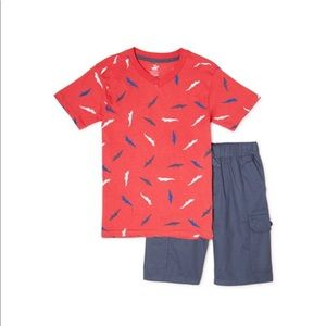 Beverly Hills Polo Club Boys 2-Piece Outfit Set- 8